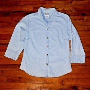 Columbia Sportwear Shirt top stone wash cotton